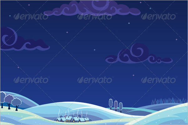 Elegant Winter Background Template