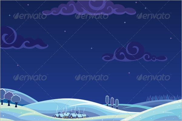 Elegant Winter Background Template