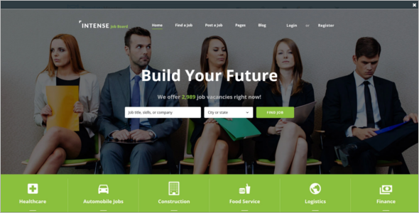Employment Job Board Website Template