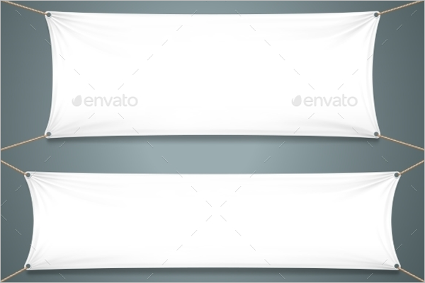Empty Fabric Banner Design