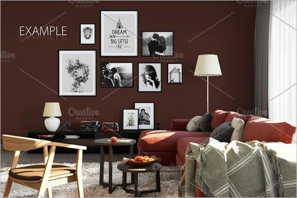 Example Wall Poster Mockup