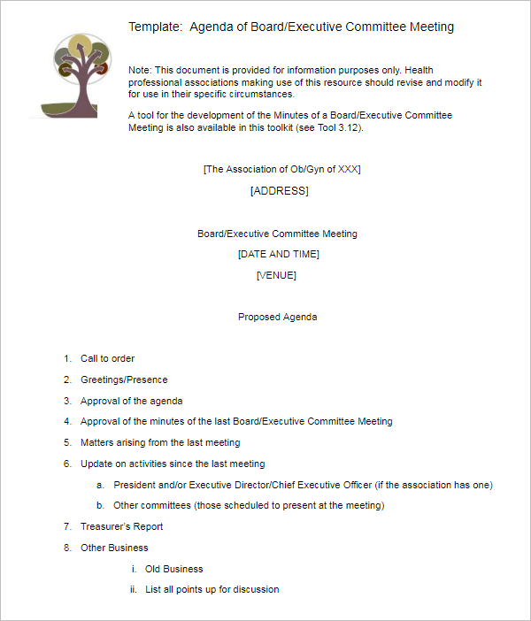 30+ Meeting Agenda Templates Free Word, Execl, PDF Formats