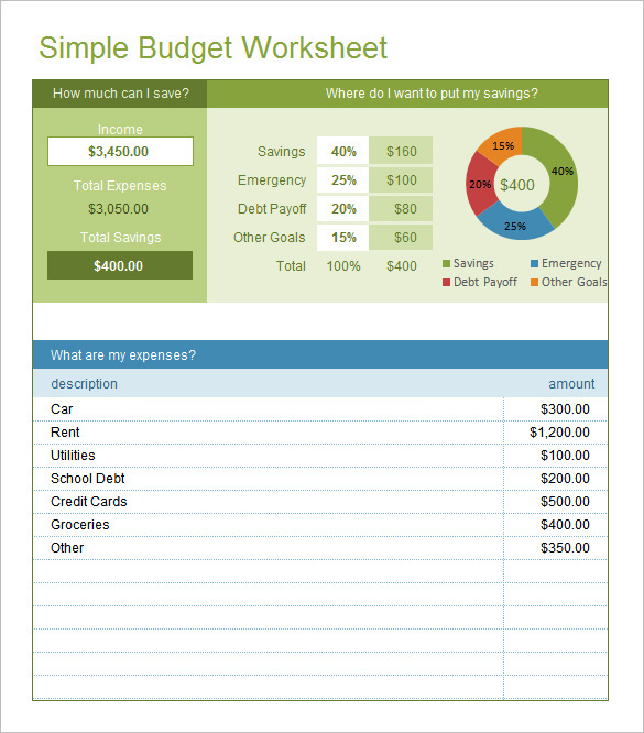 Budget Planner Template Excel