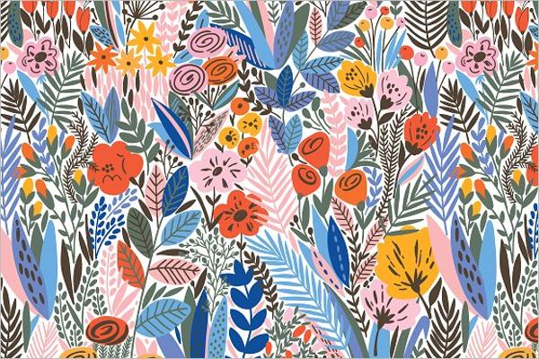 Exotic Flower Pattern Design