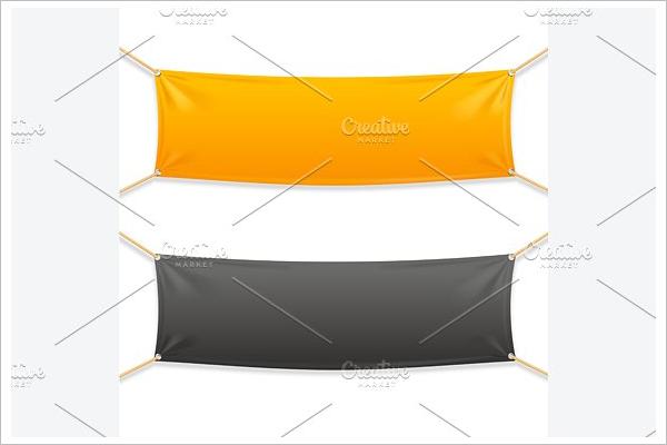 Fabric Banner Design Vector