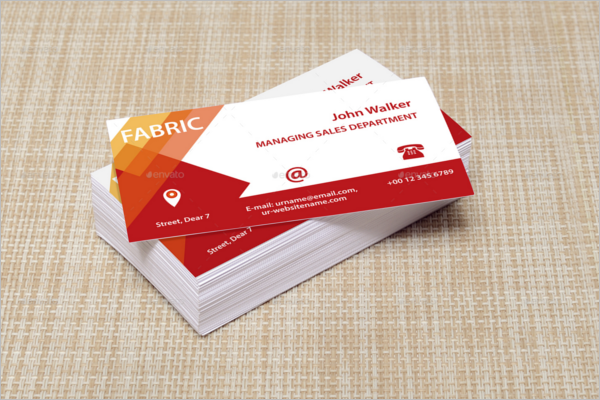 Fabric  Business Card Mockup Design