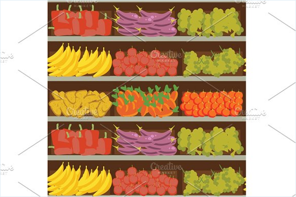 Fabric Fruit & Vegetables Patterns
