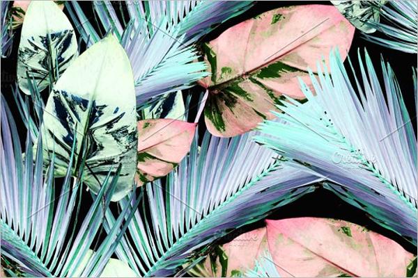Fashion Leaves Seamless Pattern
