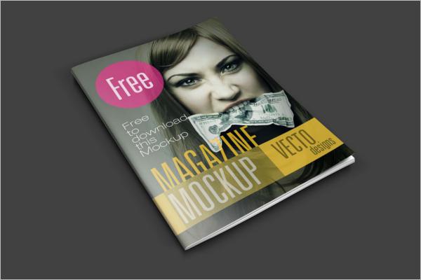 FashionMagazine Mockup Template Download
