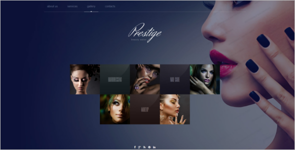 Fashion Salon Website Template