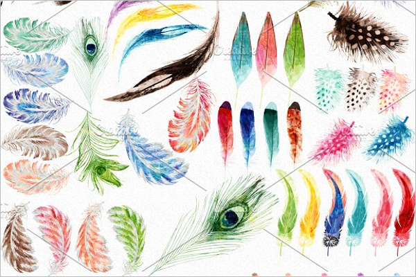Feather Clip Art Pattern