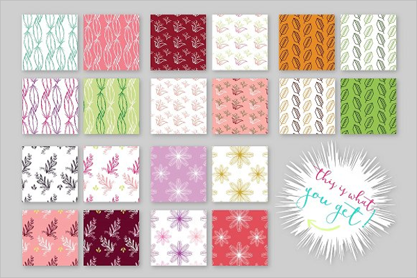 Feather Set Seamless Patterns