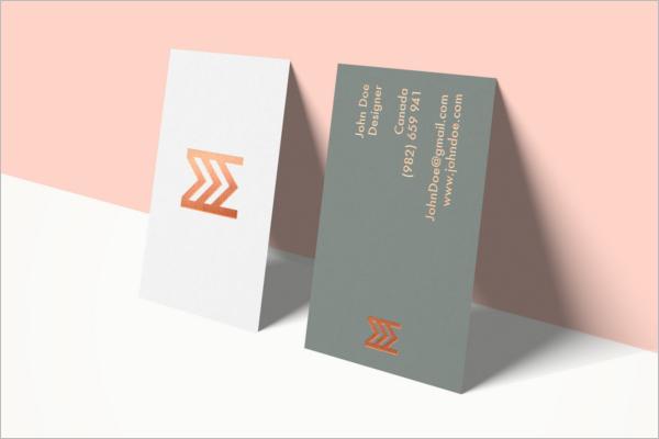 Feminine Business Card Mockup Template