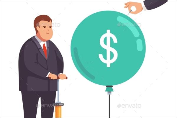 Financial Businessman Vector Design