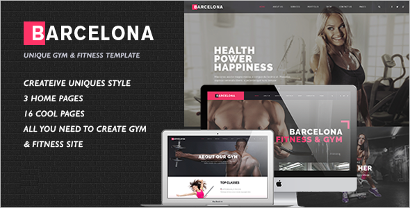 Fitness Centers HTML Template