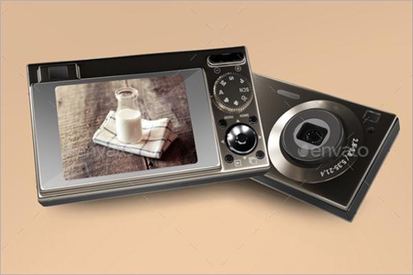 Flat Camera Mockup