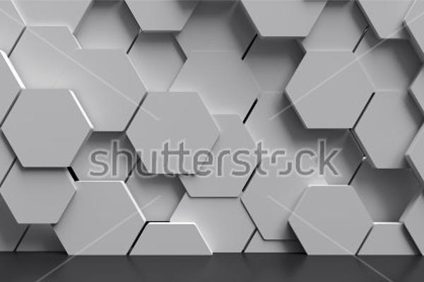 Flat Hexagon Background Design