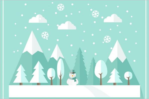 Flat winter Background Design