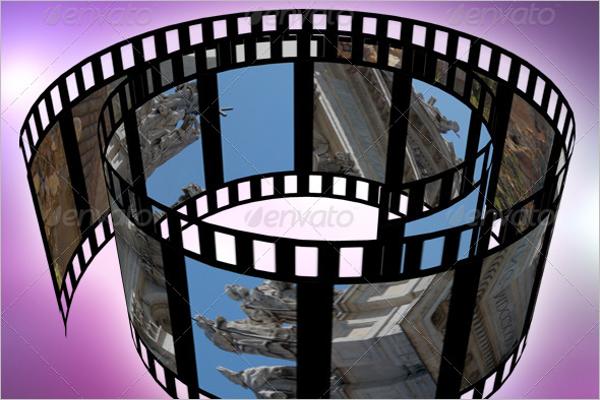Film Reel Mockup Design