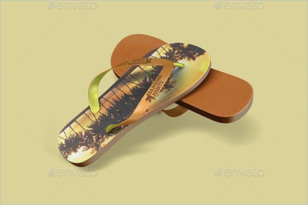 Flip Flops Sandals Mockup Template