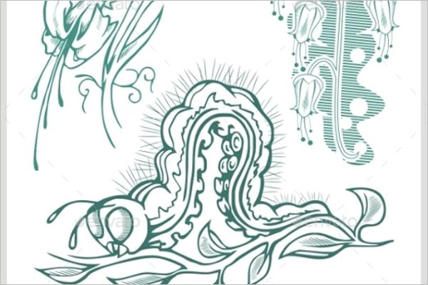 Flora Tattoo Design