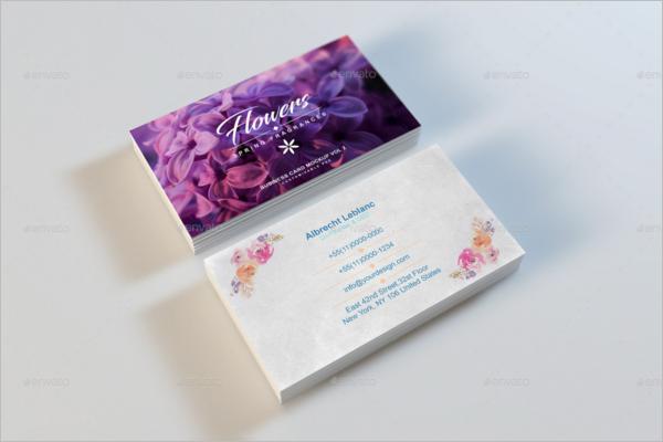 Flower Shop Business Card Mockup Dsign