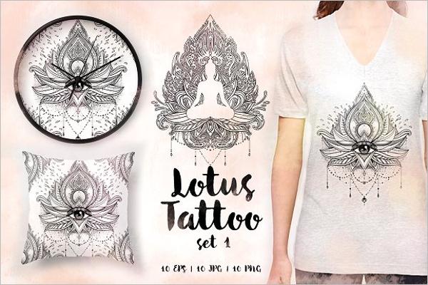 Flower Tattoo PSD Design