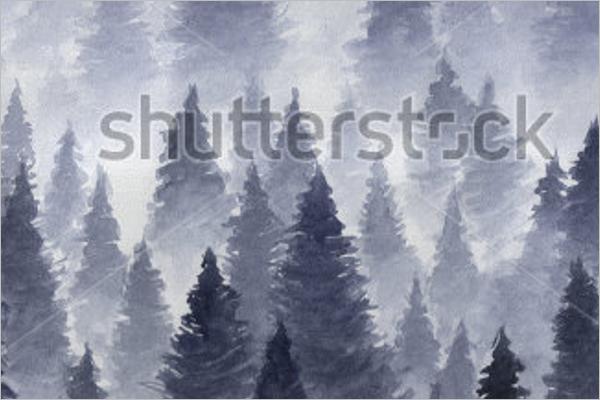 Foggy Winter Background Design