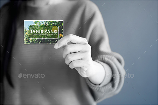 Foil Stamp Business Card Mockup PSD