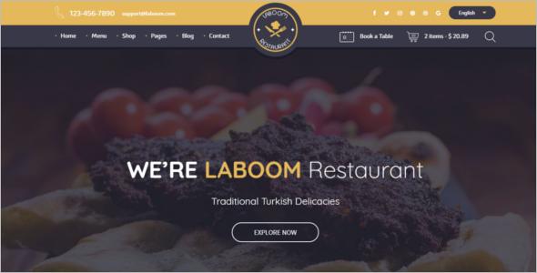 Food & Restaurant WordPress Theme