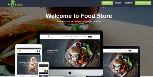 Food Store WordPress Theme