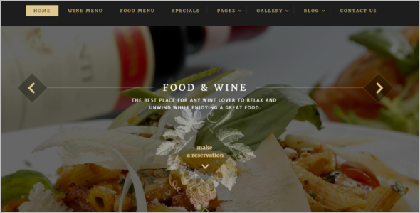 Food Wine Website Template