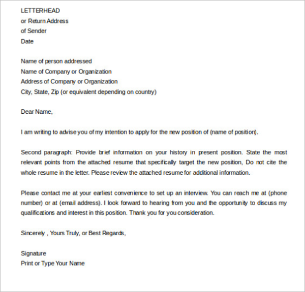 Formal Letter of Intent Word
