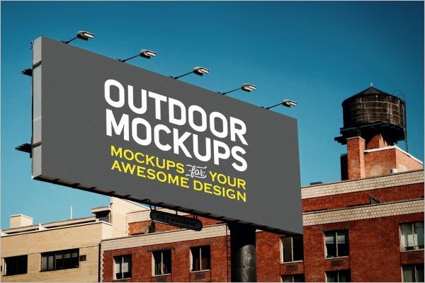 Free Advertising Mockup Template