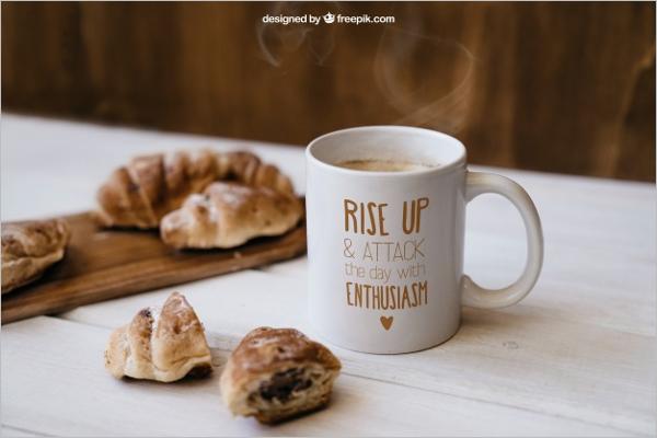 Free Breakfast MockupTemplate