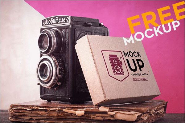 Free Camera Mockup Template