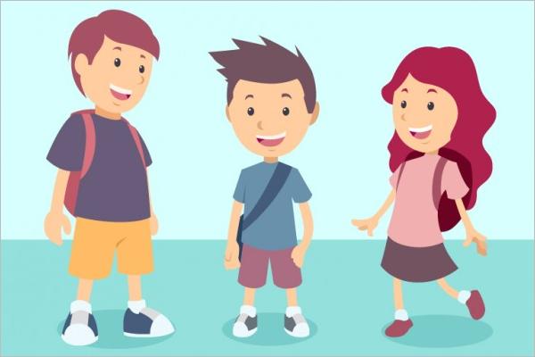 Free Cartoon Students Set