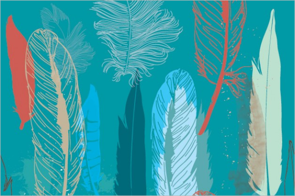 Free Feather Pattern Design