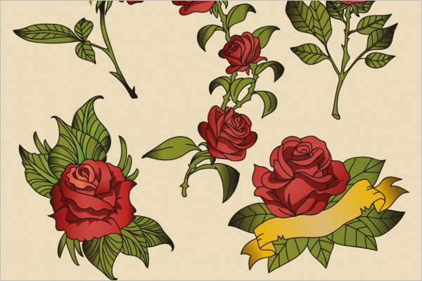 Free Flower Tattoo Design