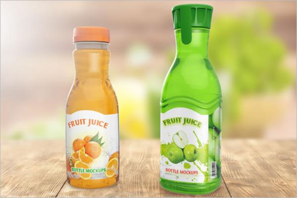 Free Glass Bottle Mockup Template