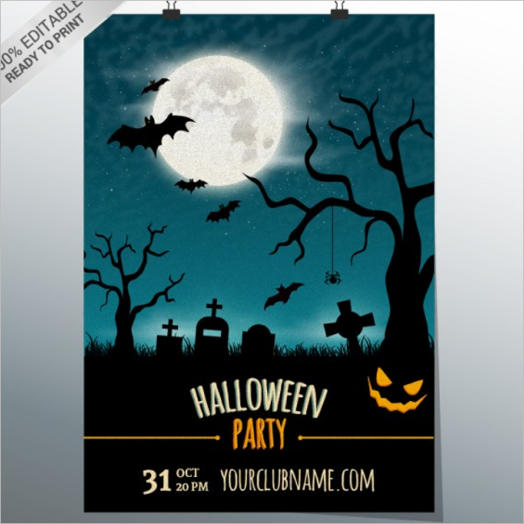 Free Halloween Poster Template