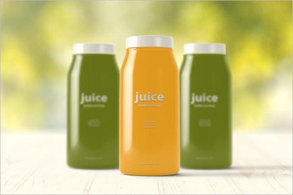 FreeJuice Bottle Mockup Design