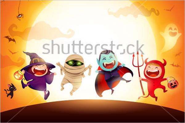 Free Kids Halloween Background