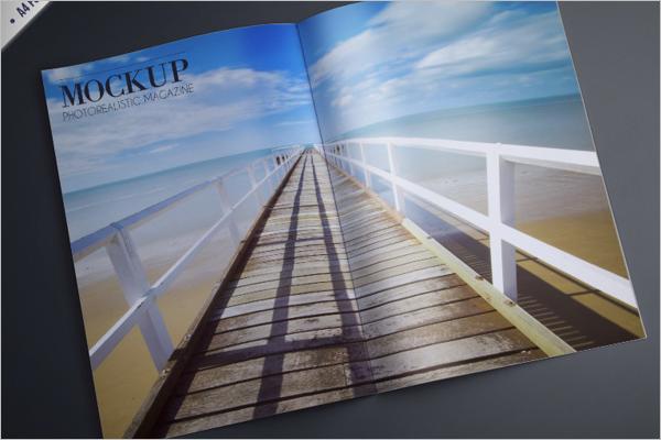 FreeMagazine Mockup Template