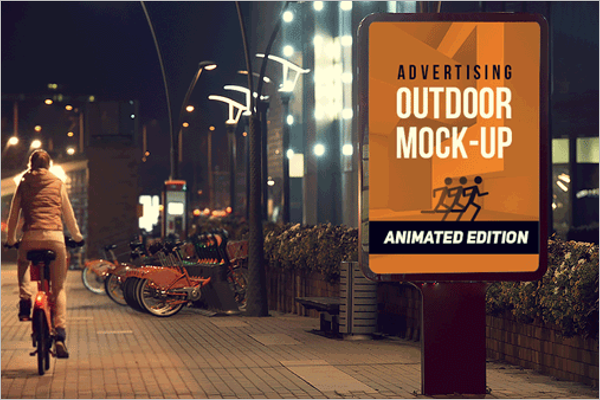 Free Outdoor Ad Mockup Template