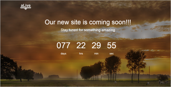 Free Responsive Coming Soon Template