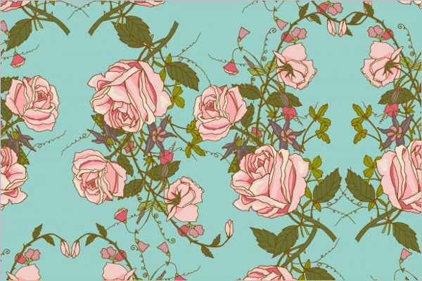 Free Rose Seamless Pattern