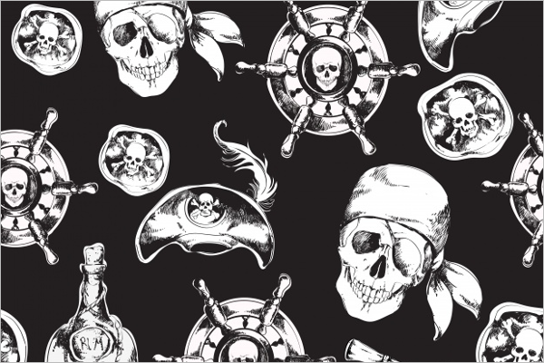 Free Skull Seamless Pattern