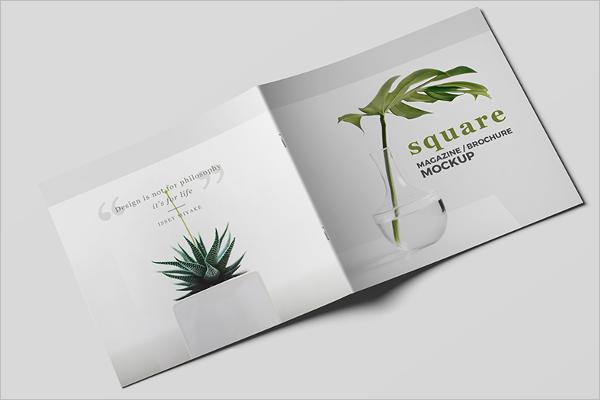Free SquareMagazine Mockup Design