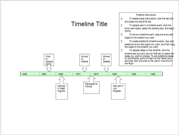 Timeline Templates Free PPT Excel Word Format Creative - Timeline template free